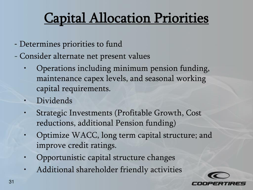Capital Allocation Priorities