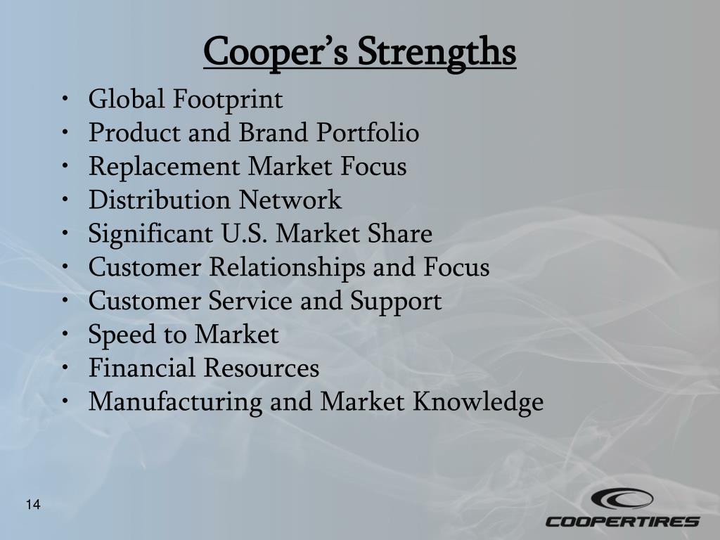 Cooper's Strengths