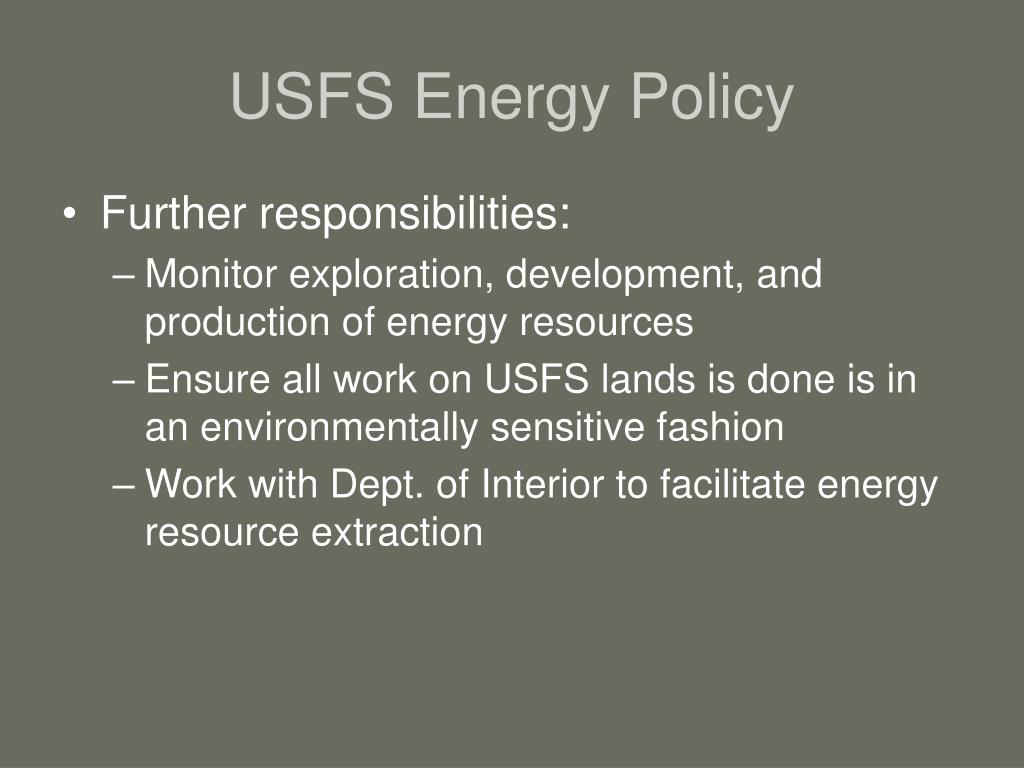 USFS Energy Policy