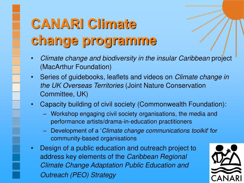 CANARI Climate change programme