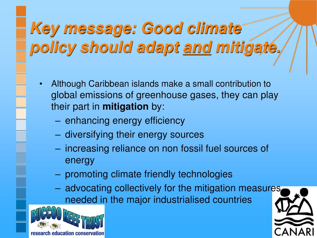Key message: Good climate policy should adapt