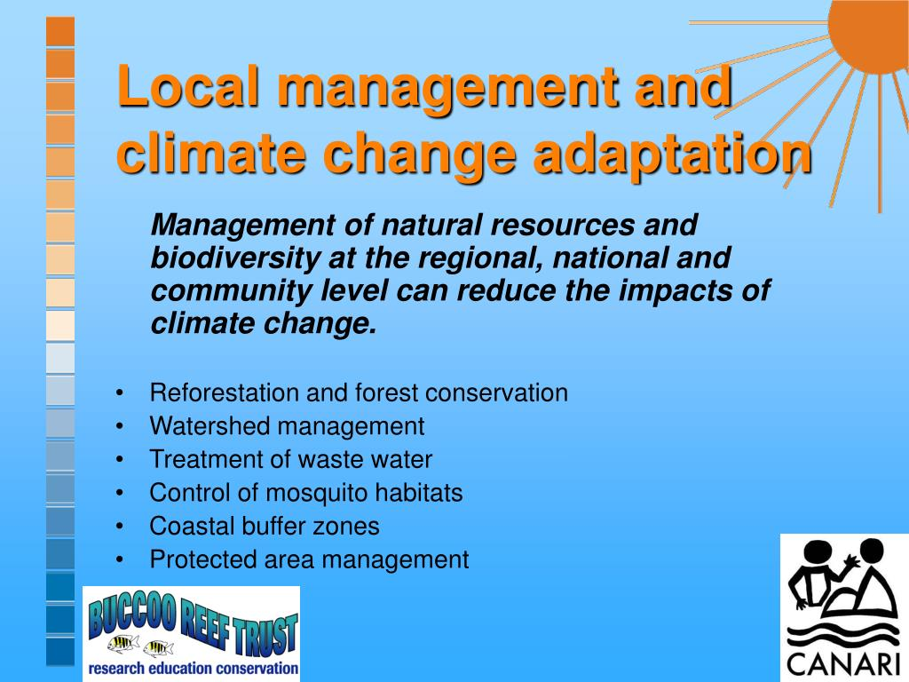 Local management and climate change adaptation