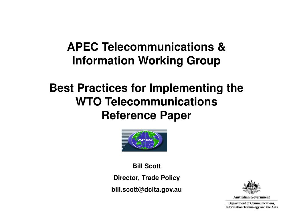 APEC Telecommunications & Information Working Group