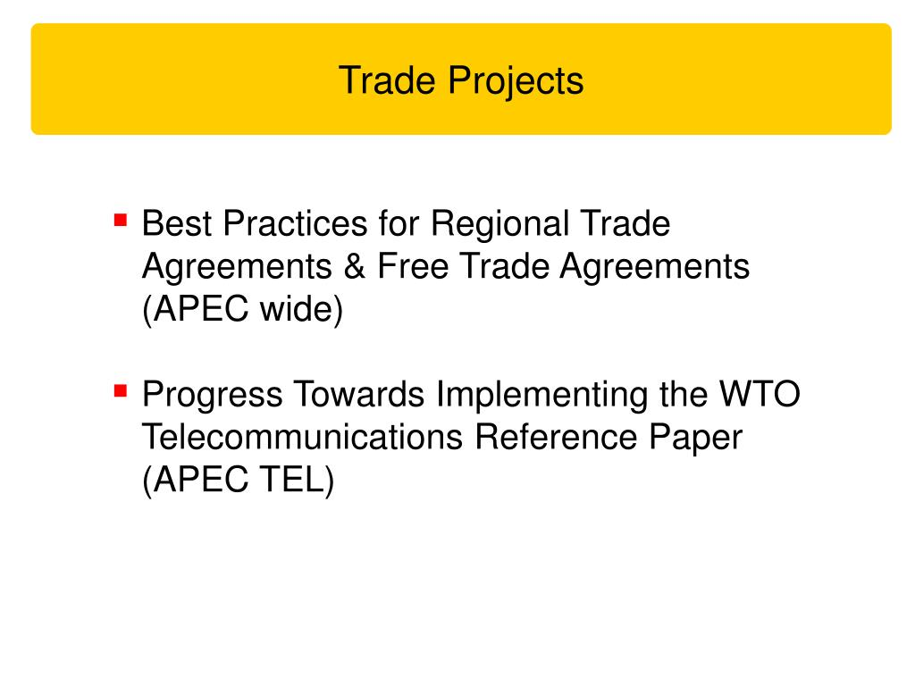 Trade Projects