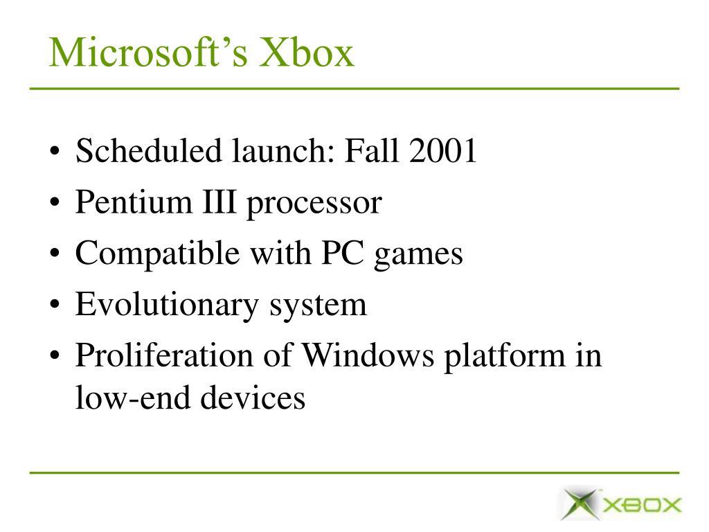 Microsoft's Xbox