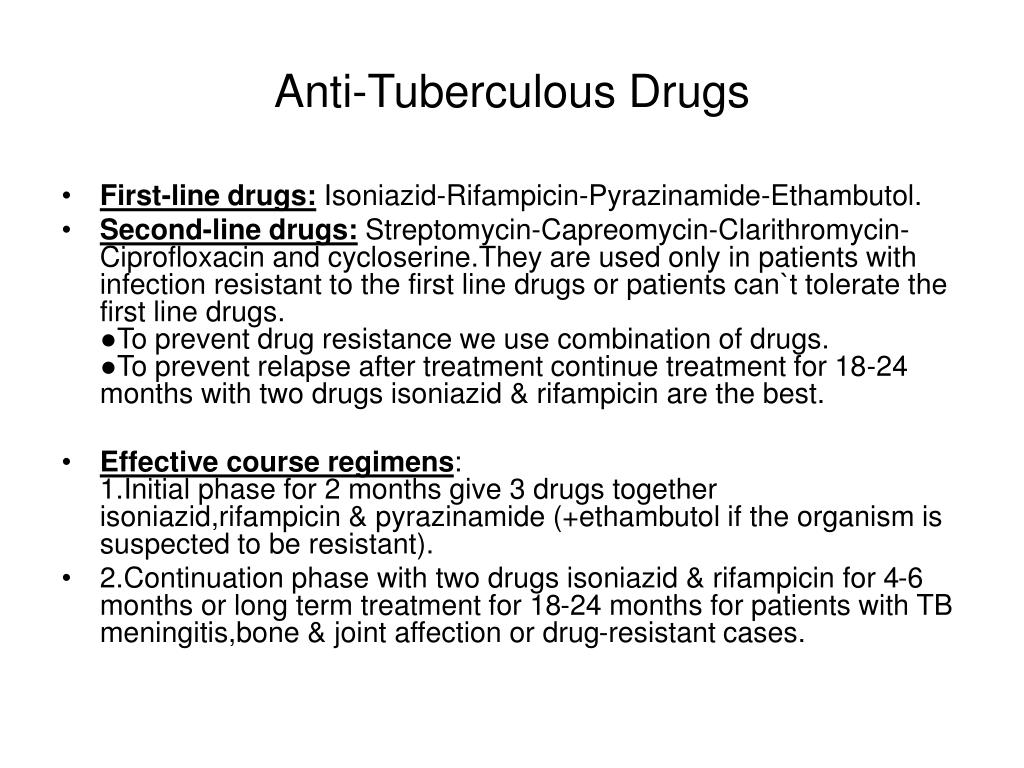 Anti-Tuberculous Drugs