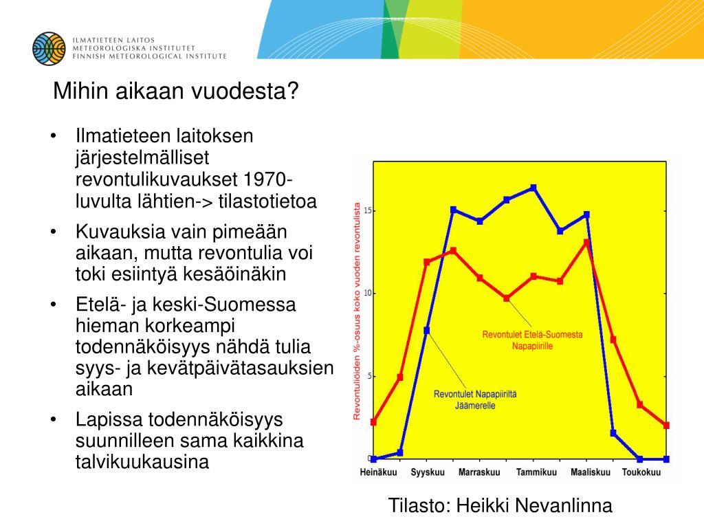 Tilasto: Heikki Nevanlinna