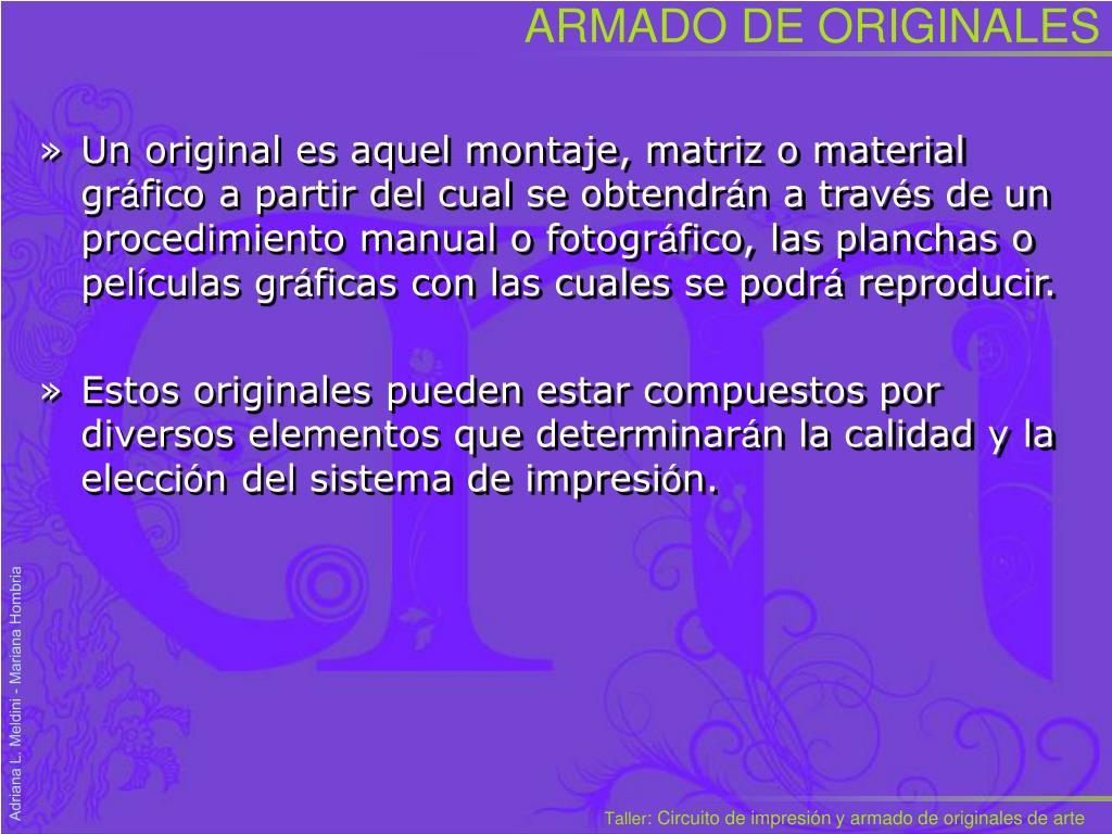 ARMADO DE ORIGINALES