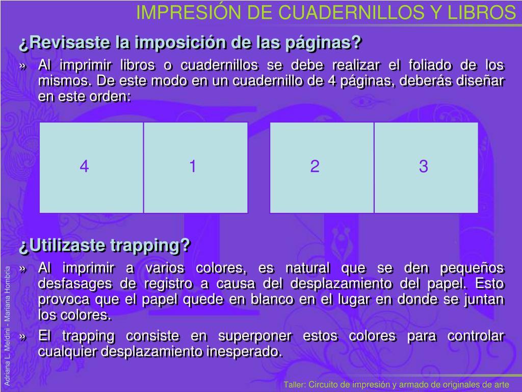 IMPRESIÓN DE CUADERNILLOS Y LIBROS