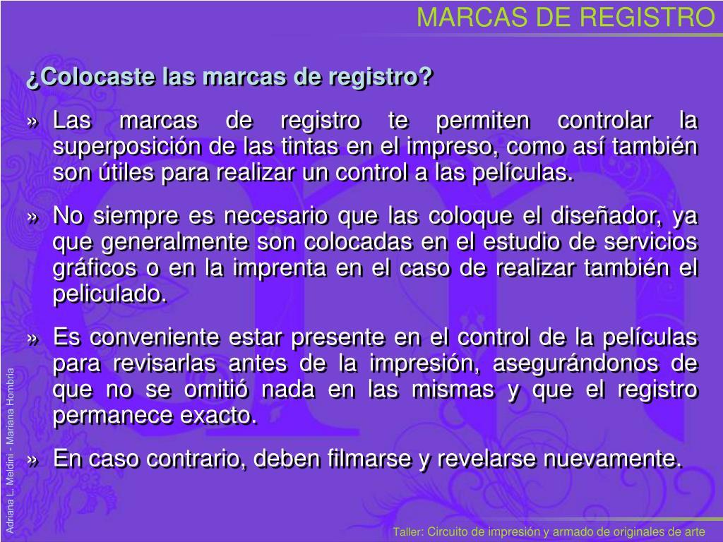 MARCAS DE REGISTRO