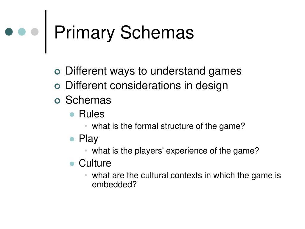 Primary Schemas