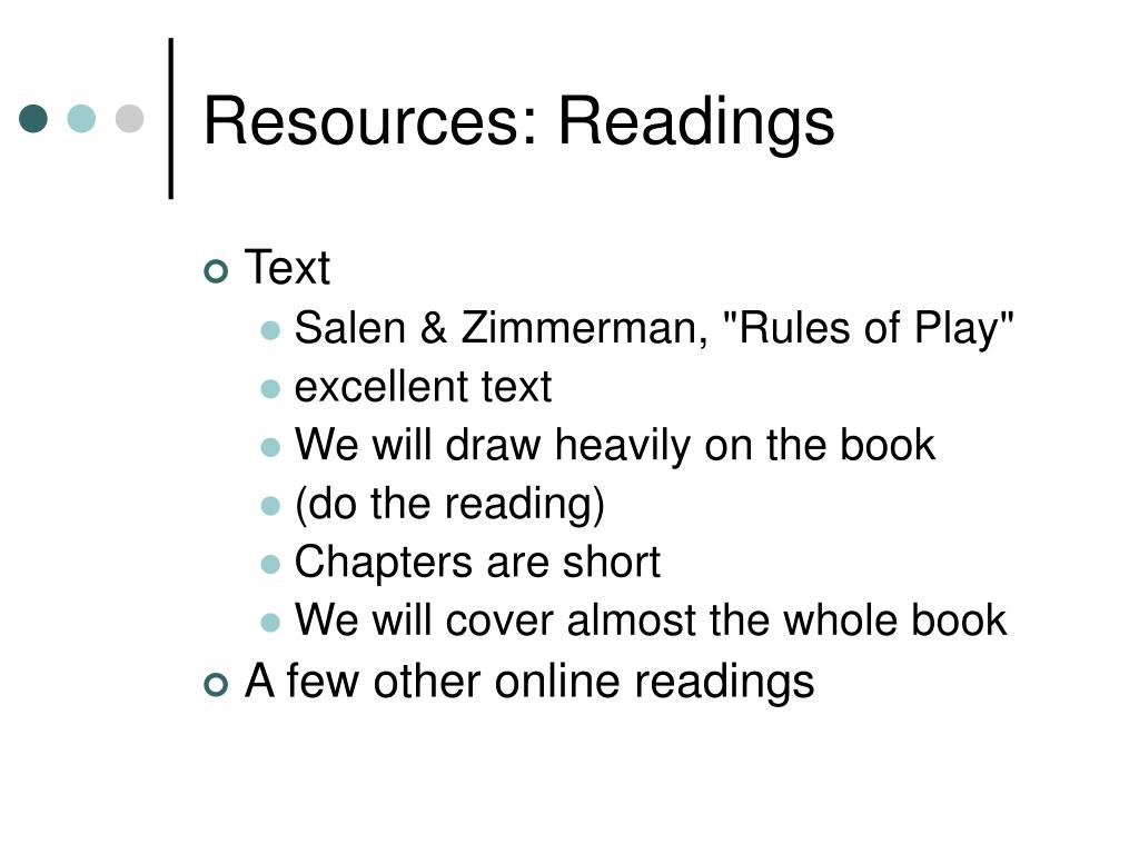 Resources: Readings