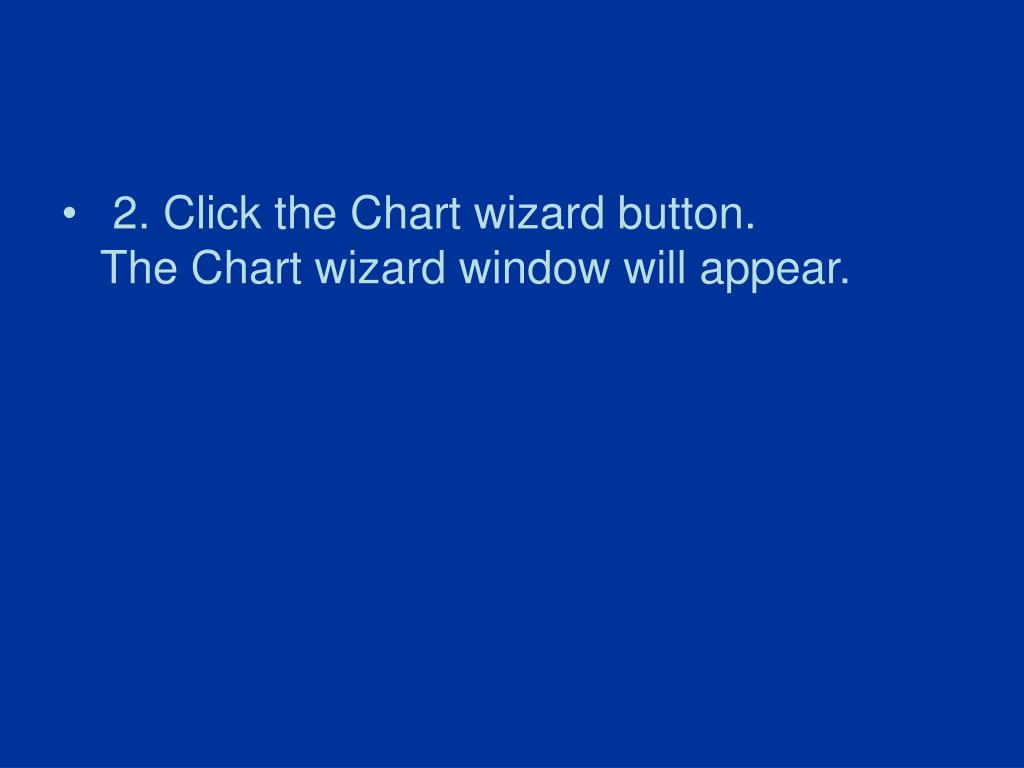 2. Click the Chart wizard button.