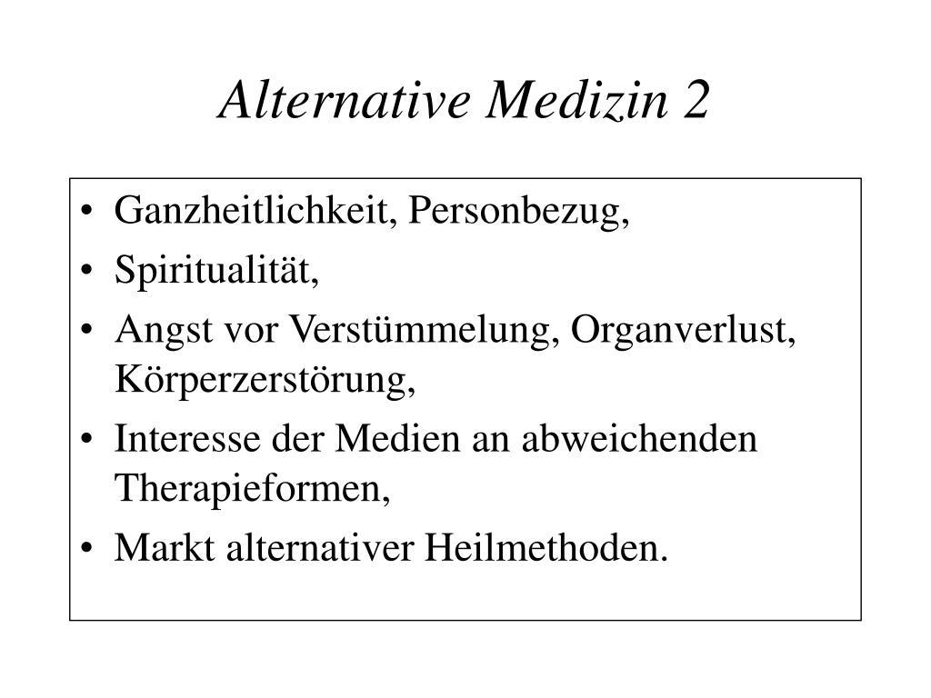 Alternative Medizin 2