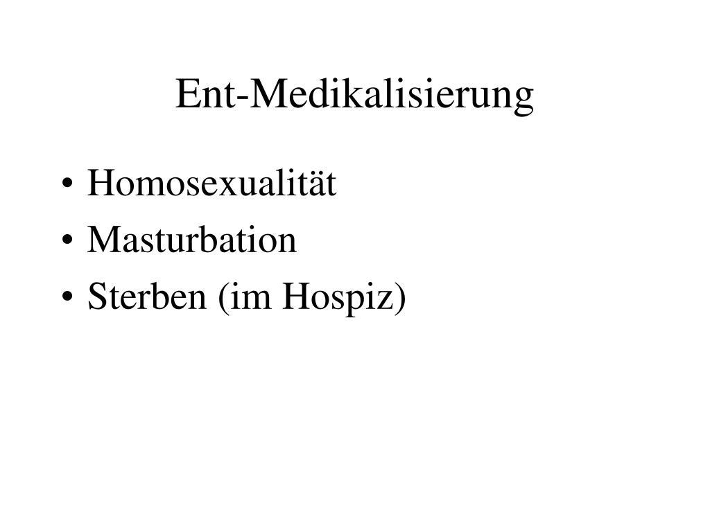 Ent-Medikalisierung