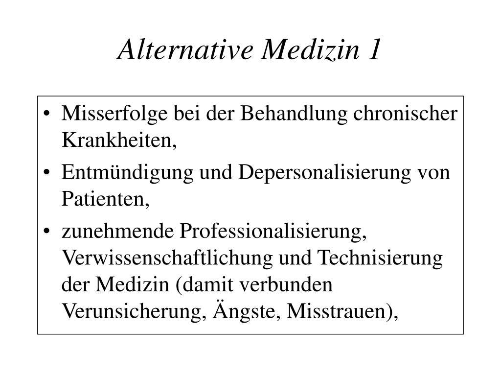 Alternative Medizin 1