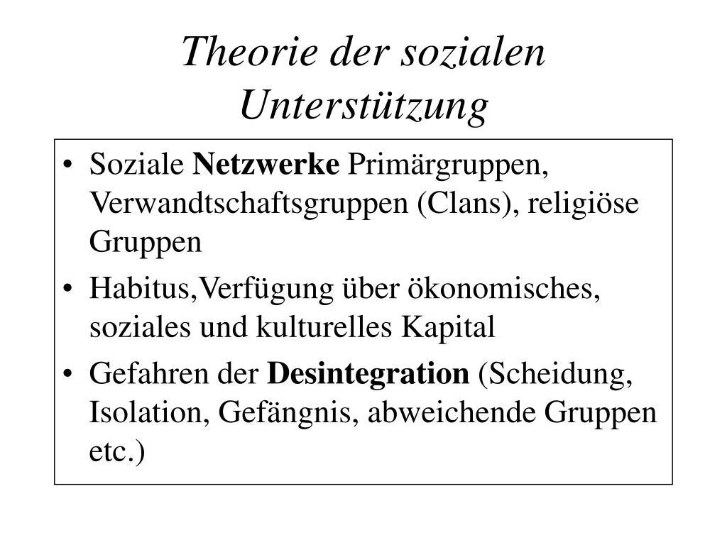 Theorie der sozialen Unterstützung