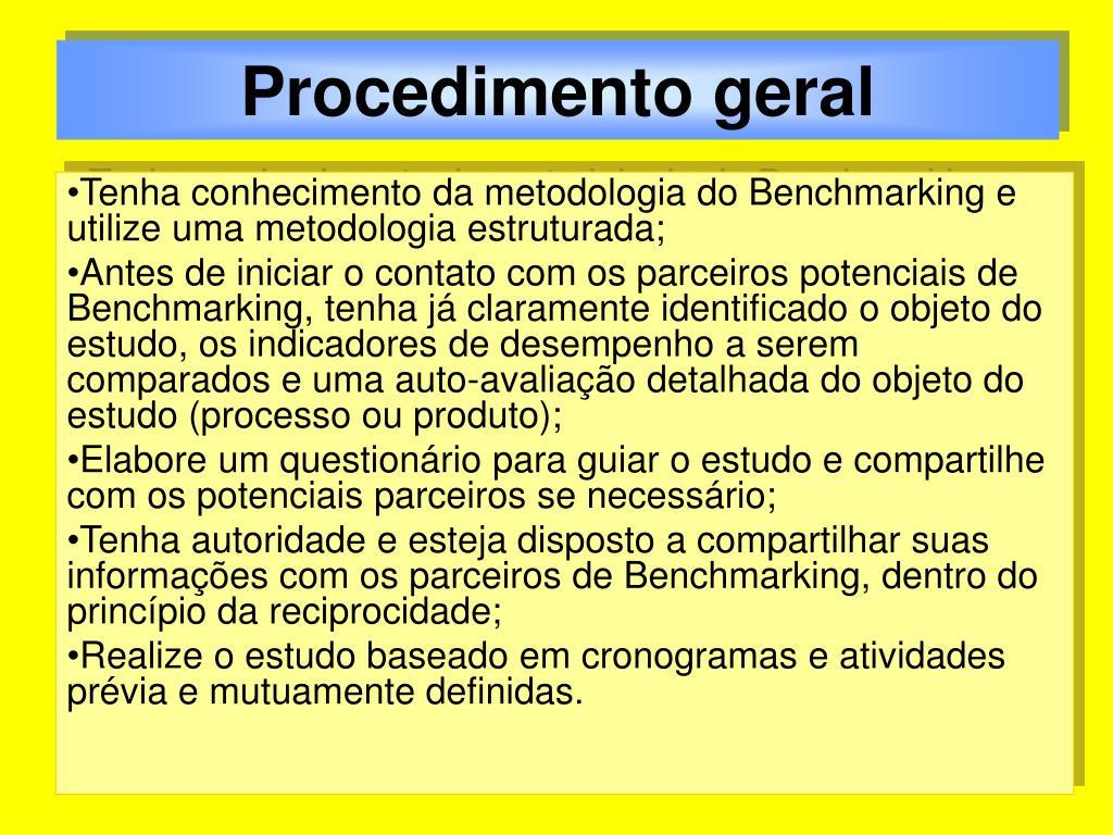 Procedimento geral