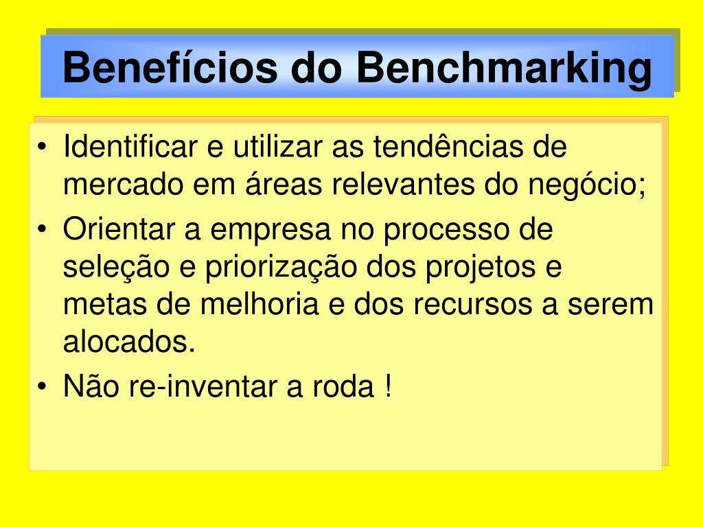 Benefícios do Benchmarking