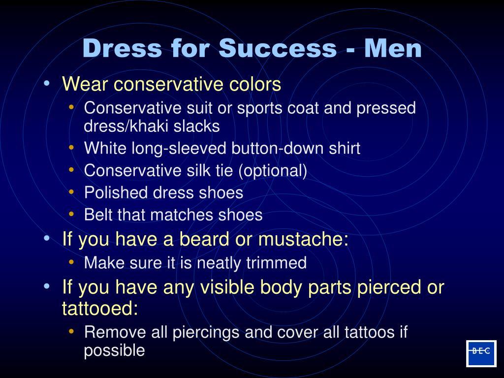 Dress for Success - Men
