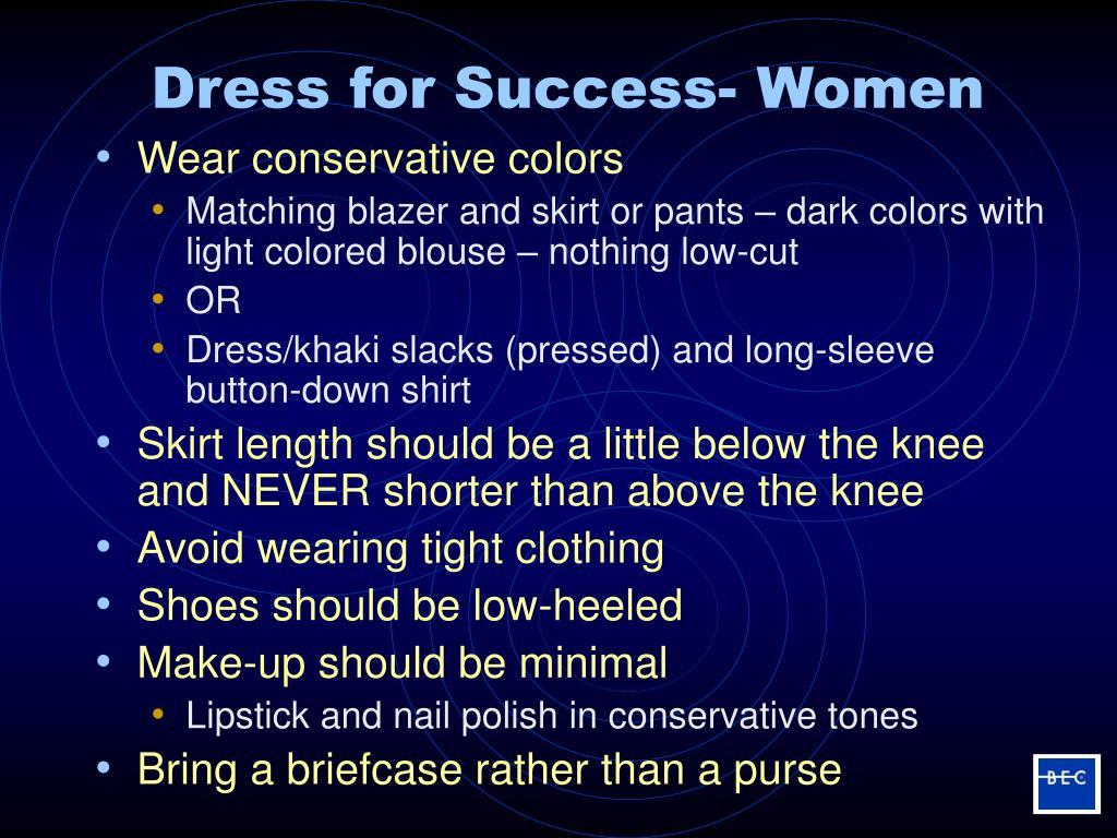Dress for Success- Women