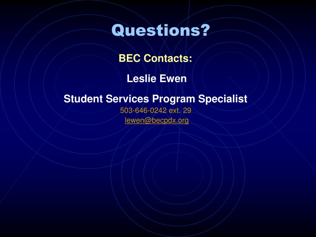 BEC Contacts: