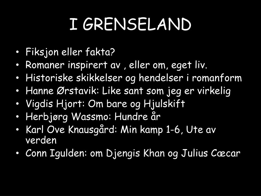 I GRENSELAND
