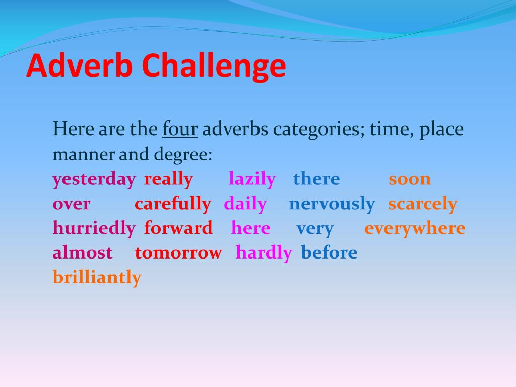 Adverb Challenge