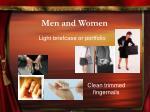 men and women8