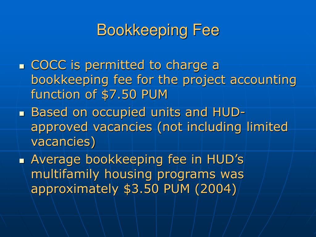 Bookkeeping Fee