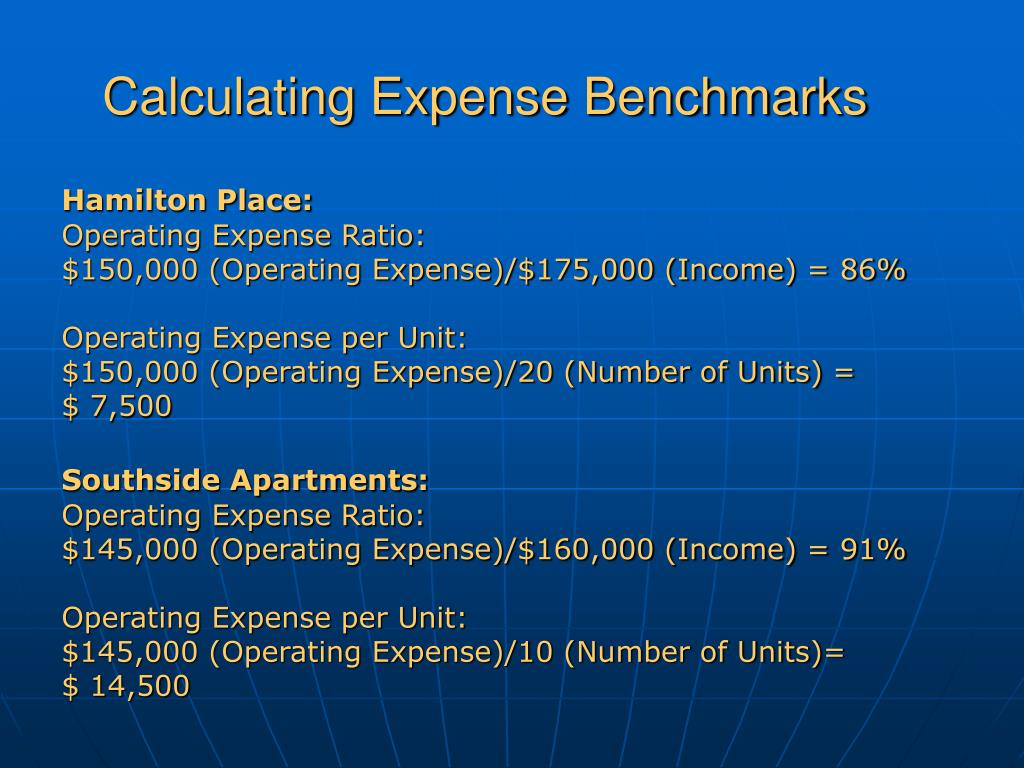 Calculating Expense Benchmarks