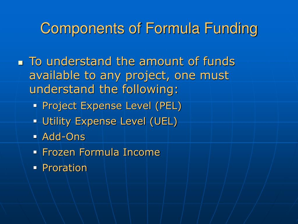 Components of Formula Funding