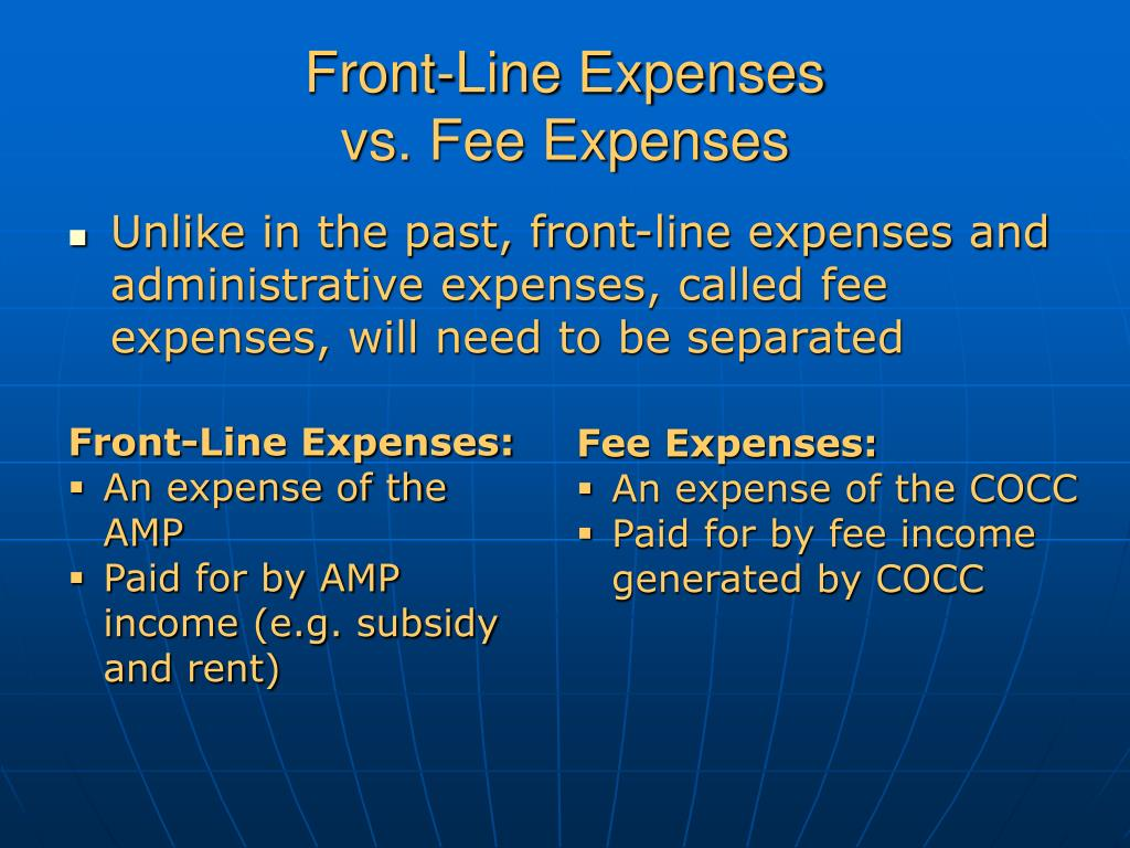 Front-Line Expenses