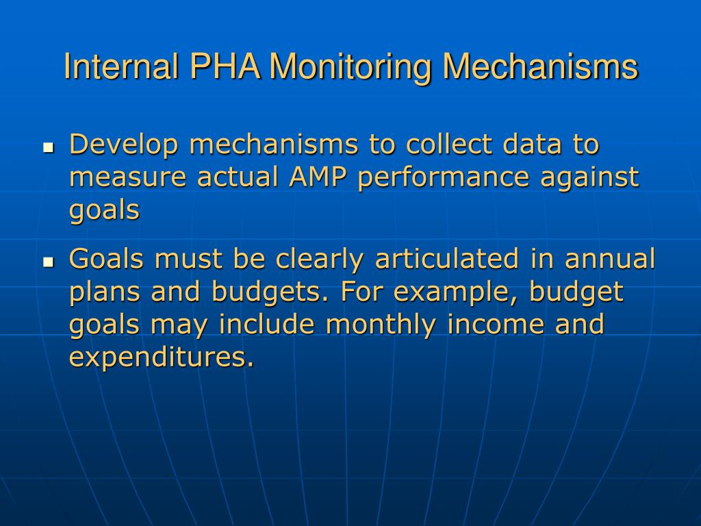 Internal PHA Monitoring Mechanisms