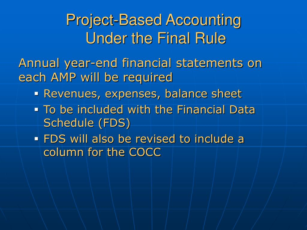 Project-Based Accounting