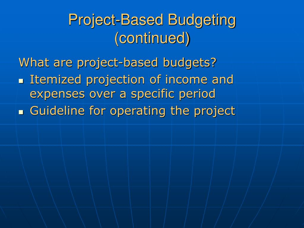 Project-Based Budgeting