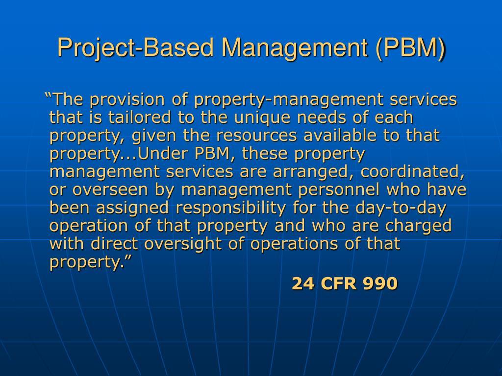 Project-Based Management (PBM)