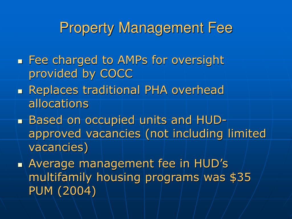 Property Management Fee
