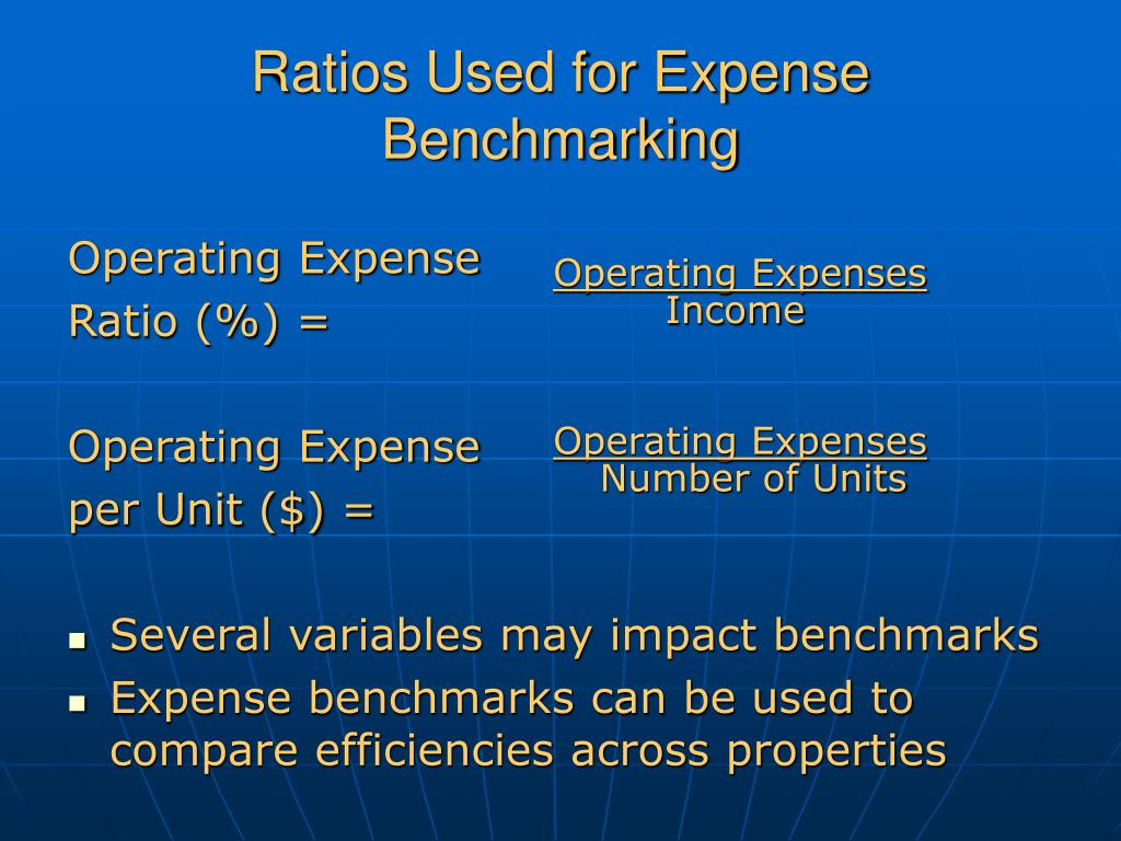 Ratios Used for Expense Benchmarking