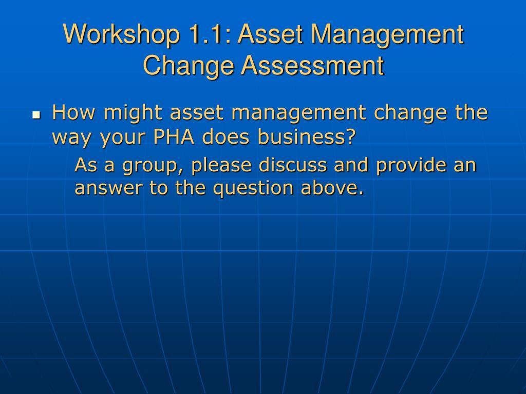 Workshop 1.1: Asset Management