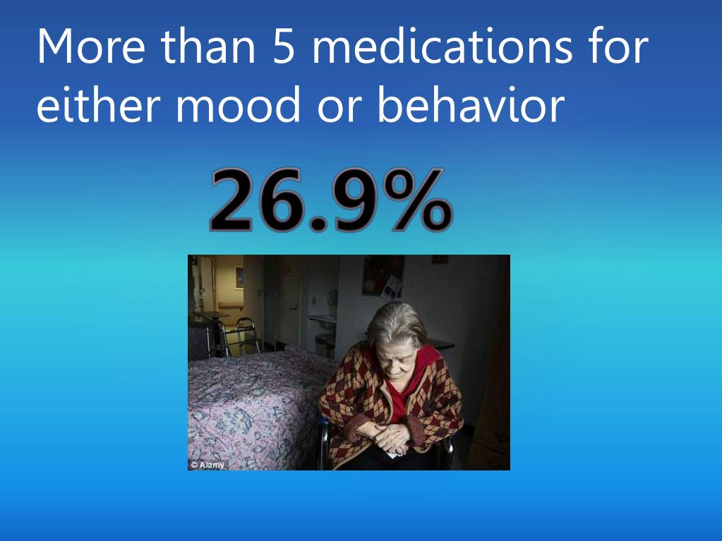 More than 5 medications for either mood or behavior