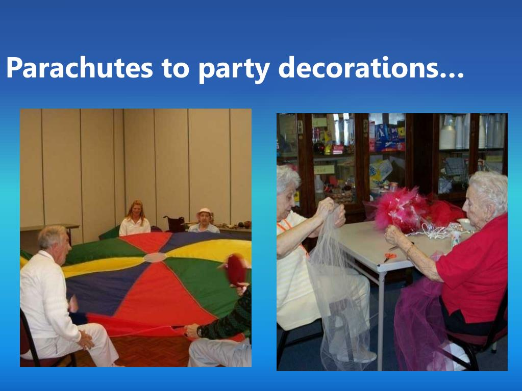 Parachutes to party decorations…
