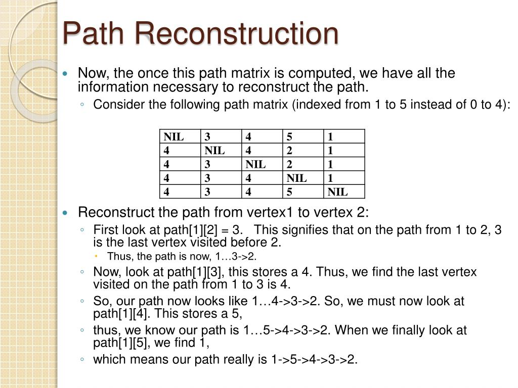 Path Reconstruction