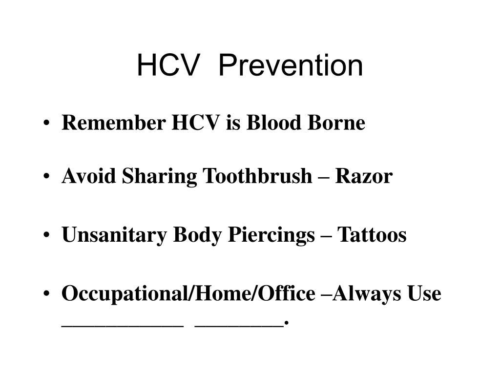 HCV  Prevention