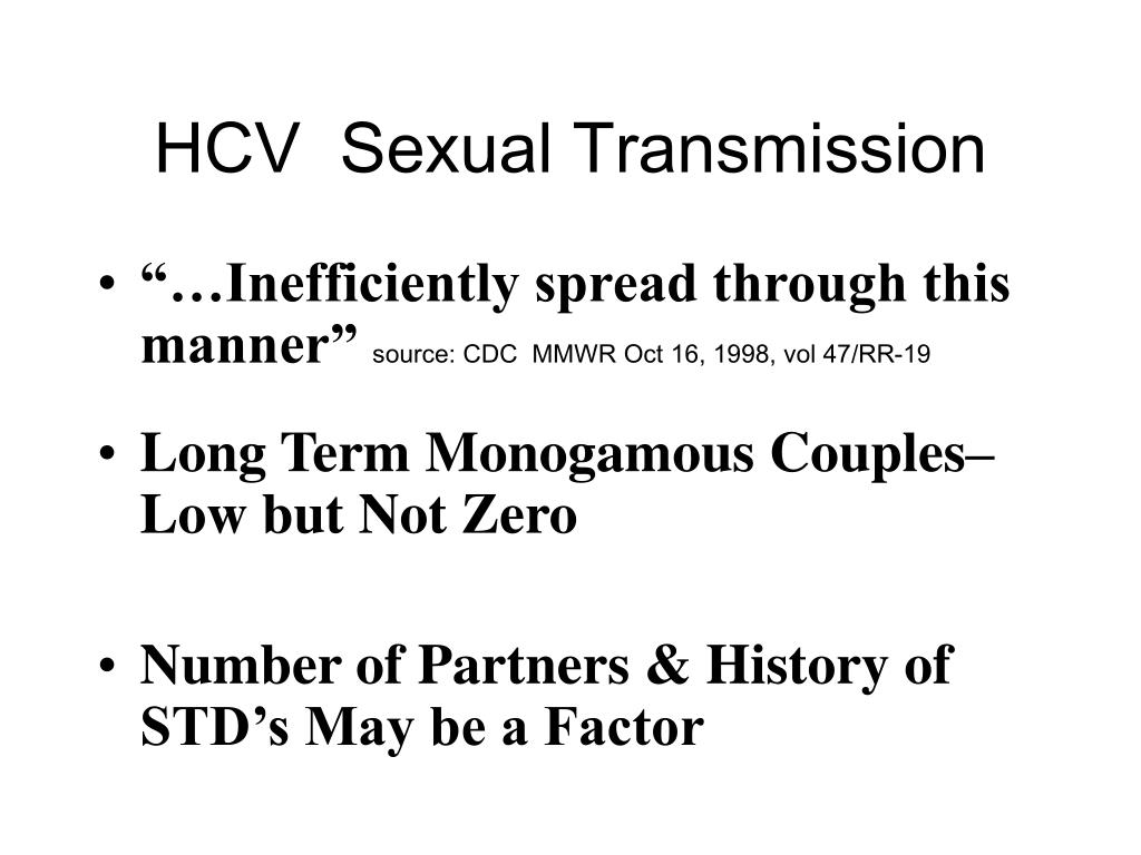 HCV  Sexual Transmission
