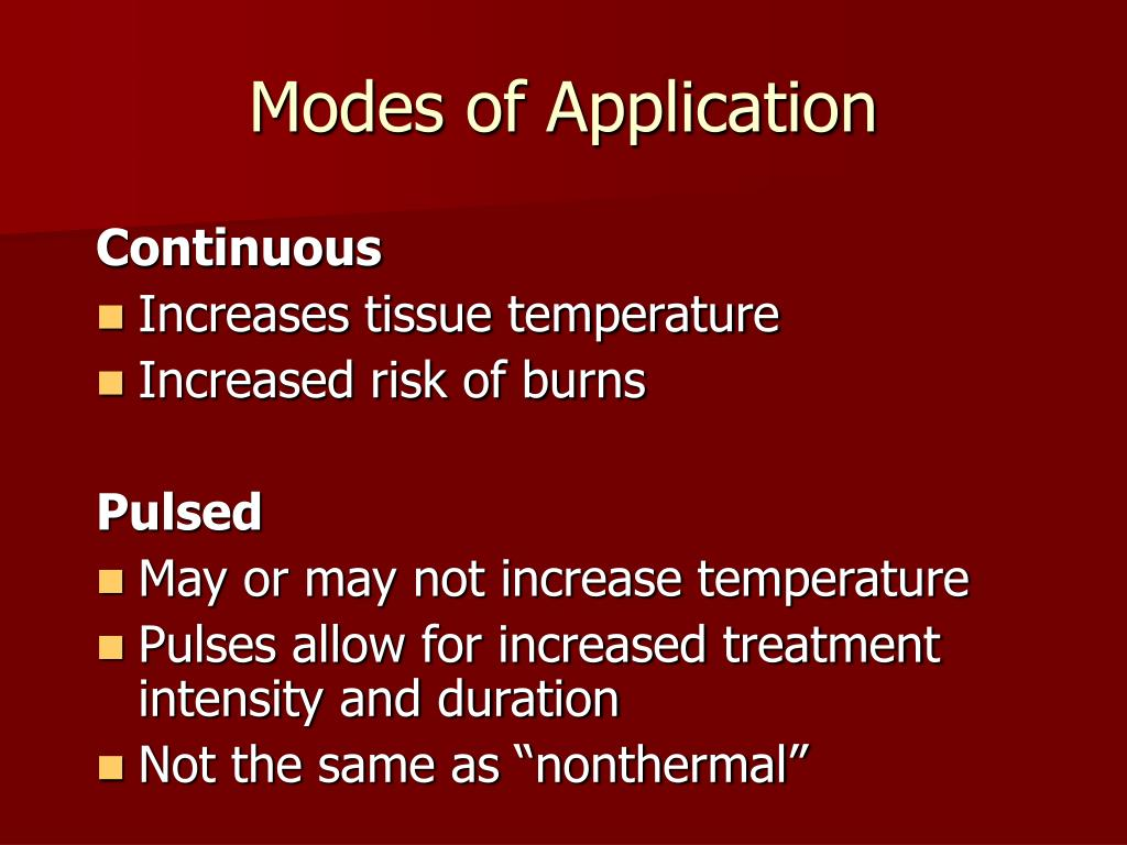 Modes of Application