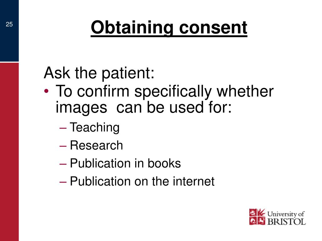Obtaining consent
