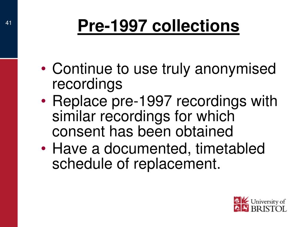 Pre-1997 collections