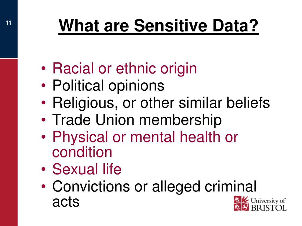 What are Sensitive Data?