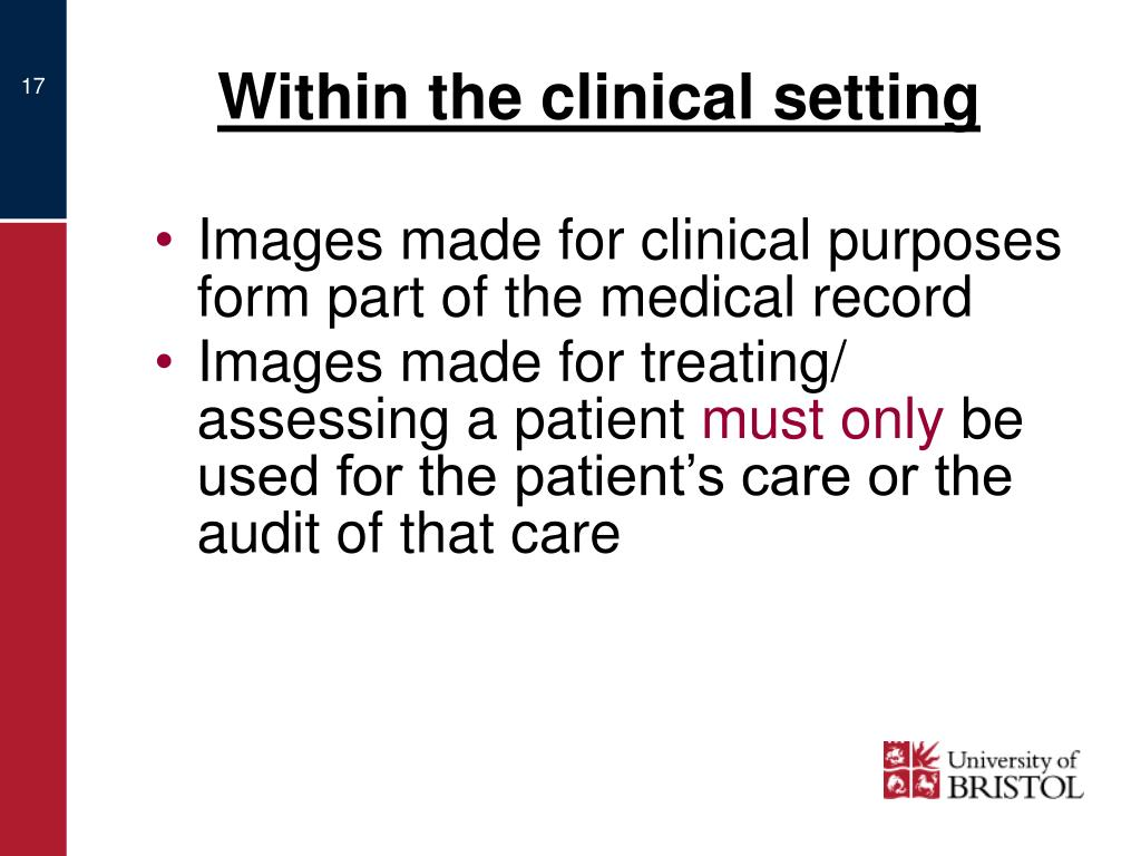 Within the clinical setting